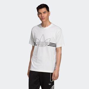adidas Outline Tee Black & White (size large)